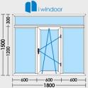 PVC window door design-iwindor