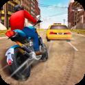 Aufregendes Motorradrennen