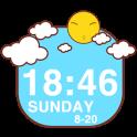 Sunshine Clock Widget