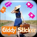 Giddy Sticker