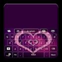 GO Keyboard Purple Hearts