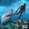 상어 공격 청새치 용 3D