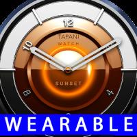 Sunset watch face wearable