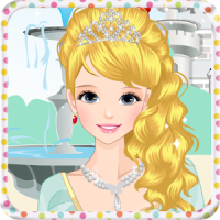 jovem princesa vestir-se