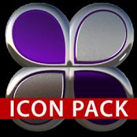 icon pack purple glas 3D