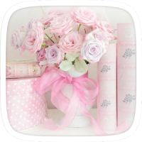 Pink Roses Flower Theme