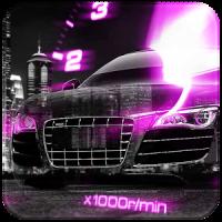 Pink Car Speedometer Theme