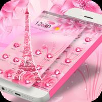 Pink Rose Eiffel love Theme