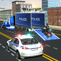Police Plane Moto Transporter