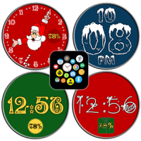 Winter Watch Face Pack Free - Snow Santa Christmas