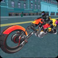 Police Sci Fi Bike Rider 3D