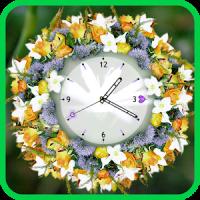 Flower Clock Wallpaper