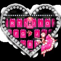 Pink Glamour girl Keyboard Theme