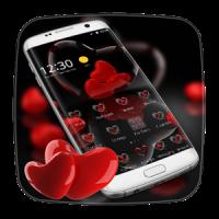 vermelho coração tema