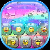 Color Rain Emoji Keyboard