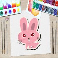 Animal Kid Coloring Book 4