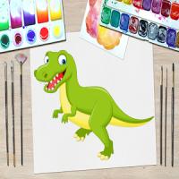 Dinosaur Kid Coloring Book 3