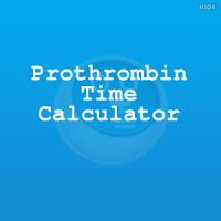 Prothrombin Time Calculator