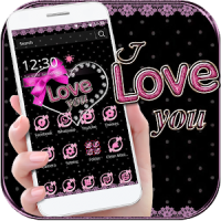 Pink Lace Love Bow Theme Wallpaper