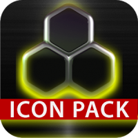 GLOW YELLOW icon pack HD 3D