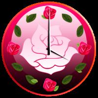 गुलाब के फूल घड़ी विजेट