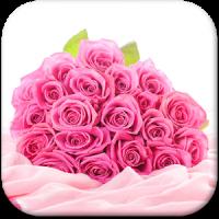 गुलाबी गुलाब लाइव वॉलपेपर