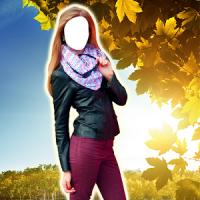 여성 자켓 사진 몽타주