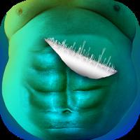 Bildbearbeitung Bauchmuskeln