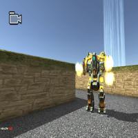 steel transformer robot fight