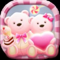 Cute Bear love honey with Pink hearts DIY Theme