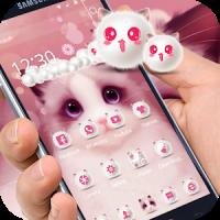 Cartoon pink cute Kitty theme