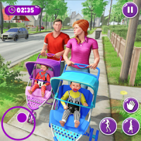 Virtual Mother New Baby Twins Family Simulator