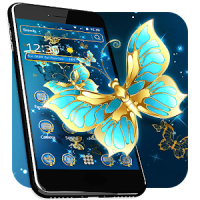 Golden Butterfly Theme & Lock Screen