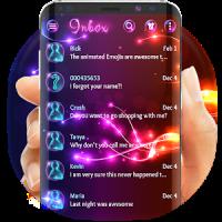 Neon light SMS theme