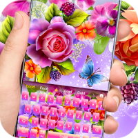 Color shiny rose theme keyboard