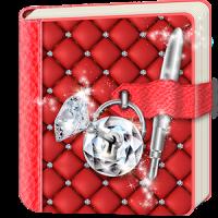 Diamond Diary Book with Lock