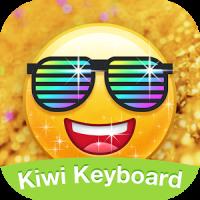 Kiwi Keyboard Glitter Golden emoji