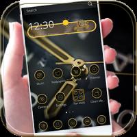 Gold Clock Theme Luxury Gold