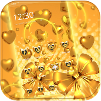 Gold heart love Theme