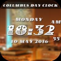 Columbus Day digital clock lwp