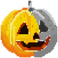 Halloween Sandbox Number Coloring- Color By Number