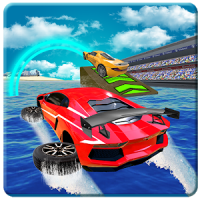 Water Car Surfer Racing 2019: 3D Cars Stunt Games
