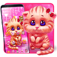 Pink Cute Lovely Cat Theme