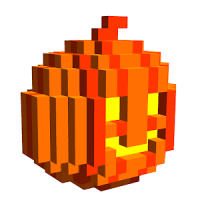Halloween 3D Color by Number: Voxel Coloring Book