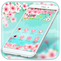 Beautiful Pink Flower Theme