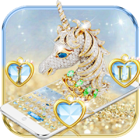 Diamond Unicorn Keyboard Theme