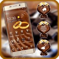 theme chocolate gold ring