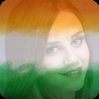 India Flag Photo DP & Name Letter Art
