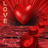 Red Heart On Red Sea Live Wall