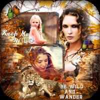 Wild Animal Photo Collage
